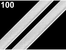 50m 100 White Cotton Insertion Piping Width 12mm,