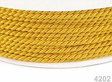 50m Aspen Gold Twisted Cord Ø2, Cord Soutache,