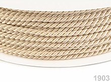 50m Ecru Twisted Cord Ø2, Cord Soutache, Cord