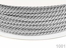 50m Gray Violet Twisted Cord Ø2, Cotton Rope,