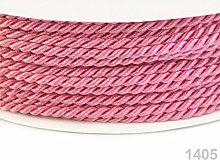 50m Prism Pink Twisted Cord Ø2, Cord Soutache,