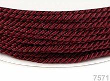 50m Rio Red Twisted Cord Ø2, Cord Soutache, Cord