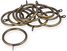 50mm Brass Curtain Rod Eyelet Rings - Pack Of 20