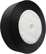 50mm Satin Ribbon Black in 22-25 Meters Full roll