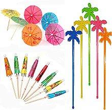 50pcs Cocktail Stick, 25pcs Cocktail Umbrella