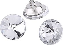 50pcs Crystal Upholstery Buttons With Metal