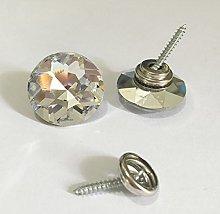 50PCS/LOT 18MM Diamond Crystal Glass Buttons