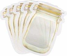 50Pcs Mason Jar Pattern Food Storage Bag Reusable