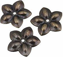 50pcs Plum Blossom Upholstery Nails Tacks Studs