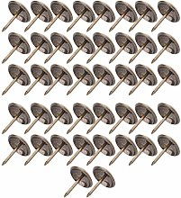 50PCS Thickened Upholstery Tacks Antique Brass