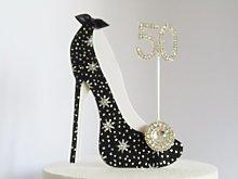 50th Birthday Cake Decoration Shoe (Star Design in