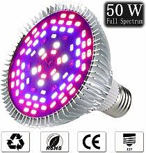 50W Led Plant Lamp E27 Grow Light Full Spectrum,