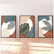 50x70cm x3 Pieces NO Frame Minimalist Abstract