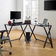 51 Modern Corner Computer Desk - Black