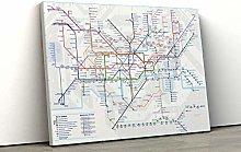 52 north Large London Underground Tube Map Framed
