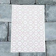 53 x Spice/Herb Storage Jar Labels Stickers Decals