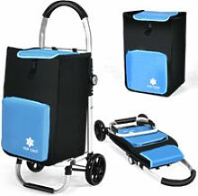 53L Folding Shopping Trolley Grocery Luggage
