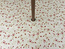 "55"" DIAMETER ROUND PVC/VINYL TABLECLOTH -"