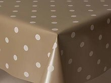 "55x55"" SQUARE PVC/VINYL TABLECLOTH - CHAMPAGNE"