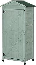 55x74cm Wooden Garden Storage Shed Cabinet w/
