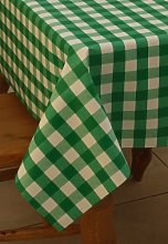 "55x78"" OBLONG PVC/VINYL TABLECLOTH - GREEN"