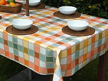 "55x78"" RECTANGLE PVC/VINYL TABLECLOTH - CANDY"