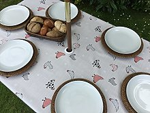 "55x78"" RECTANGLE PVC/VINYL TABLECLOTH -"