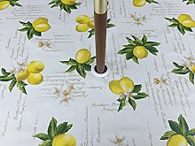 55X78 OVAL PVC/VINYL GARDEN TABLECLOTH - YELLOW