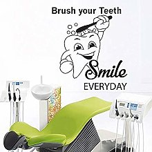 57x63cm Mural Toothbrush Bath Dentist Smiling