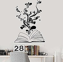57x78cm 3D Simulation Sticker Child Reading Flower
