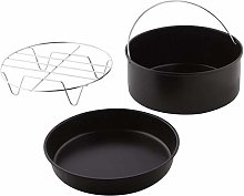 58bh Cake Cans, Pizza Pan, 3pcs/set Steel Round