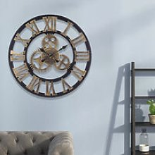 58CM Vintage Wall Clock with Roman Numeral Metal,