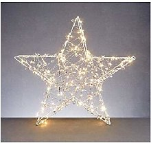 58x58cm Copper Light Star with Timer and 120 Warm