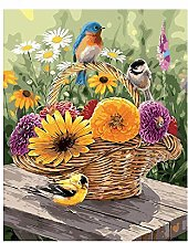 5D Diamond Painting by Number Kit, Flower Basket
