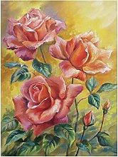 5D Diamond Painting Cross Stitch Kits Red Rose