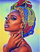 5D Diamond Painting Purple African Woman Full