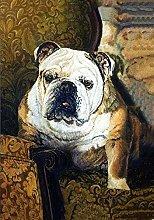 5D DIY Diamond Painting Kits Brown English Bulldog