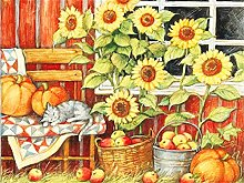 5D DIY Diamond Painting Kits Sunflower Full Round