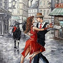 5D Full Drill Diamond Painting Kit Couple Dancing