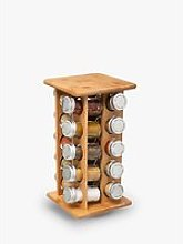 5Five 20 Jar Filled Rotating Bamboo Spice Rack