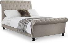 5ft Kingsize 150 x 200 MINK CHENILLE Bed Frame -