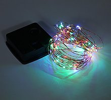 5M 50 Lights Outdoor Solar Powered Copper Wire