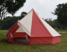 5m Red Bell Tent 5 Meter 5m Zig 10 Person Family