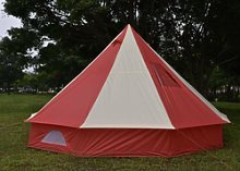 5m Tent Pyramid Round Bell Tent With Zipped In