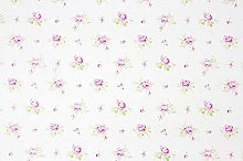5m White Rose Shabby Chic Floral Sticky Back