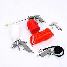 5PC Air Compressor Tool Kit Blow/Spray/Oil