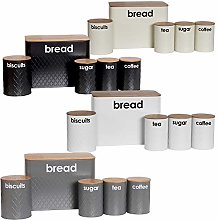 5pc Bread Bin and Canister Sets Available in 4