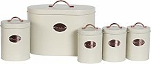 5PC Kitchen Food Storage Set Bread Bin, Biscuit