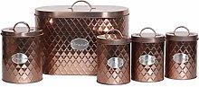 5pc Kitchen Storage Container Set - Bread Bin +