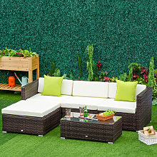 5pc Rattan Conservatory Furniture Garden Corner